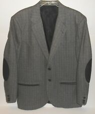 Vintage Circle S Ranch Western Wear Wool Blend 2 Button Elbow Patches Blazer 44R