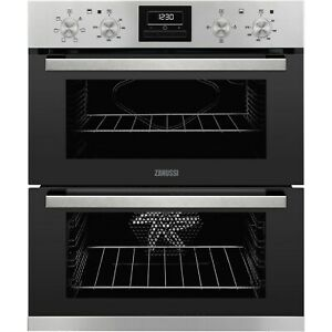 Zanussi Multifunction Electric Built Under Double Oven - Stainless Steel