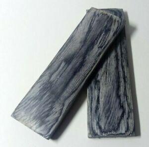 130mm Pair Black Pakka Wood Scales Knife Handle Making Blanks - 2nds