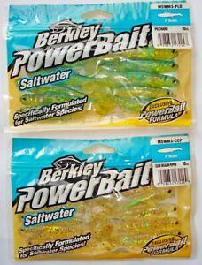 2Stk Berkley Power Bait 3 1/8in Rubber Fish Predators,Bait,Zander,Perch,Hetch