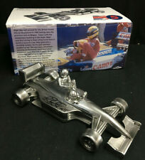 Nigel Mansell SIGNED Chrome Sculpture, Williams FW14 'Taxi for Senna' Formula 1
