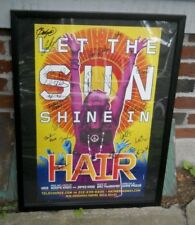 HAIR REVIVAL CAST SIGNED BROADWAY THEATRE POSTER Autograph Let the Sun Shine In