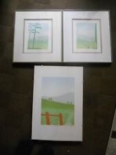 3 signed limited edition vintage landscape screen prints by Ian Warwick King
