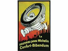 FRENCH VINTAGE METAL SIGN 39X25 cm BIBENDUM COMFORT MICHELIN TIRE MADE IN FRANCE