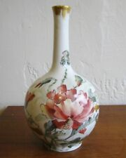 Antique Jean Pouyat Limoges French Porcelain Hand Painted Vase France Signed