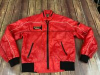 Vintage Automotif Competitive Design Men's Red Racing Jacket w. Hood - Listed XL