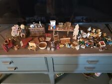 Vintage Huge Lot of Miniature Doll House Furniture and Accessories