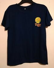 VINTAGE TIGER BEER NAVY BLUE T SHIRT SIZE M FRONT AND BACK PRINT SINGAPORE VGC