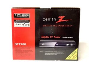 Zenith Digital TV Tuner Converter Box No. DTT900 NIOB