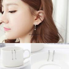 Fashion Korean Simple Women Crystal Ear Stud Drop Dangle Earrings Jewelry Gift
