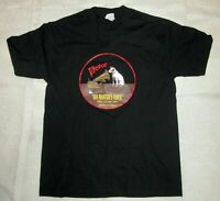 Nipper & Phonograph Black T-Shirts large size Edison Made in USA NOS