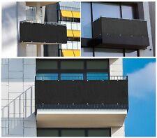 Sichtschutz Balkon Zaun Windschutz Balkonbespannung Balkonverkleidung Schwarz