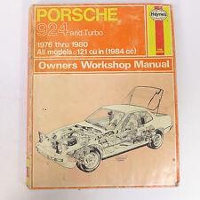 Vintage Porsche 924 Y TURBO 1976 Thru 1980 TODOS LOS MODELOS owner's Manual