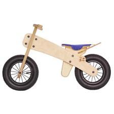 NEW DIPDAP Wooden Mini Balance 'Run' Bike with Blue Saddle (MS-03/1) 2-4 Yrs B