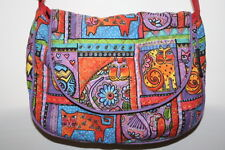 Laurel Burch Cotton Quilted Cat Family Portraits Cross Over Purse Bag Felines