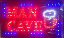 LED Neon Man Cave Sign for Shop Home Business Size 55cm X 33cm