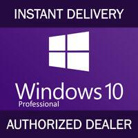Gebuine Windows 10 Professional Pro Key win 10 Activation License Instant Code