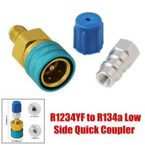 R1234YF to R134a A/C Air Conditioning Quick Coupler Low & High Side Connector