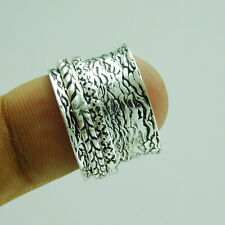 Ethnic Jewelry 925 Silver Plated Spinner Ring US Size 9 R-2072