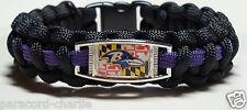 Baltimore Ravens; State of Maryland Flag Handmade Souvenir Paracord Bracelet