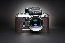 Handmade Real Leather Half Camera Case Bag Cover for Nikon F2 F2A F2AS F FA