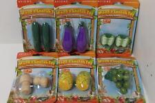 6 x 2pk Rabbit guinea pig rat wood wooden gnaw gnaws toys vegetable BULK