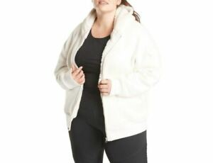 ATHLETA Cozy Sherpa Reversible Ivory Cream Zipped Jacket Hoodie Medium