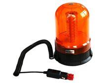 LED Rundumleuchte orange 10 bis 30 Volt mit Magnetfuß und Saugnapf - Warnleuchte