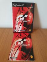 PS2 Gran Turismo 3 : A - spec PAL complete with manual and in good condition .