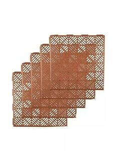 Pack of 5 Plastic Tiles Garden Non-Slip Path Walkway Patio Decking Grid Lawn new