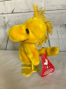 "Vintage 1972 10"" WOODSTOCK Plush Yellow Bird With Plastic Feet w/ Tag"