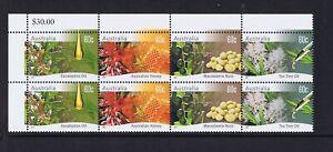 Australian Decimal Stamps 2011 Farming Native Plants Top-of-Sheet Block 8, MNH