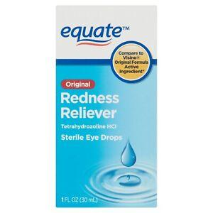 Equate Original Redness Reliever Sterile Eye Drops, 1 fl OZ.