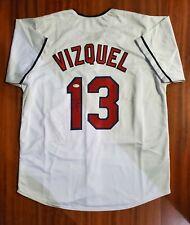 Omar Vizquel Autographed Signed Jersey Cleveland Indians JSA