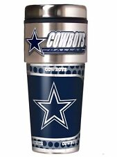 NFL Dallas Cowboys Steel Travel Tumbler Coffee Mug with Hi-def Metallic Graphics