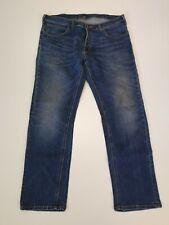 P915 MENS LEE FADED BLUE STRAIGHT LEG STRETCH DENIM JEANS UK XL W36 L30