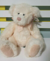 RUSS BERRIE TEDDY BEAR SABRINA BEARS FROM THE PAST 30CM BABY PINK BOW