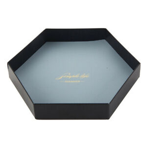PU Leather&Iron Square Hexagon Dice Tray for Cosmetics, Jewelry Storage Display