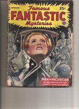 FAMOUS  FANTASTIC MYSTERIES #6 (SEPT. 1945) G CONDITION PULP MAGAZINE