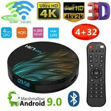 SMART TV BOX ANDROID 9.0 IPTV 4K FULL HD 1080P 4GB 64GB ROM DECODER WIFI HK1MAX.