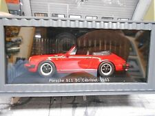 PORSCHE 911 930 SC Cabrio Cabriolet rot red G-Modell Diecast Spark 1:43
