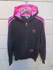 Veste à capuche ADIDAS CHILE 62 Trefoil noir rose tracktop jacket femme 42 coton