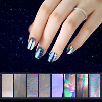 Pro Galaxy Nail Art Transfer Wrap Foil Sticker Glitter Tip Decal Decoration DIY