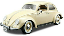 VW VOLSKWAGEN BEETLE 1:18 Scale NEW Diecast Model Toy Miniature Car Cream