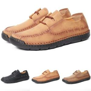 Mens Driving Moccasins Flats Pumps Loafers Non-slip Leisure Faux Leather Shoes L