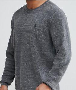 Ralph Lauren Mens Jumper BNWT size 2XB Big & Tall Sweater Grey Marl Genuine BNWT