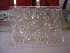 vintage plastic serving tray/Clear plastic crystal tray/Serving plastic tray
