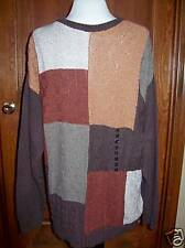 New with tag Mens Sweater Croft and Barrow Medium New Old Stock Browns
