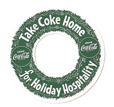 Coca Cola Flaschen-Ring USA 1940er Coke Bottle Christmas Holiday Hospitality