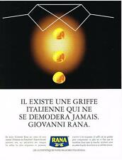 PUBLICITE ADVERTISING  1999    RANA   pates fraiches Italiennes